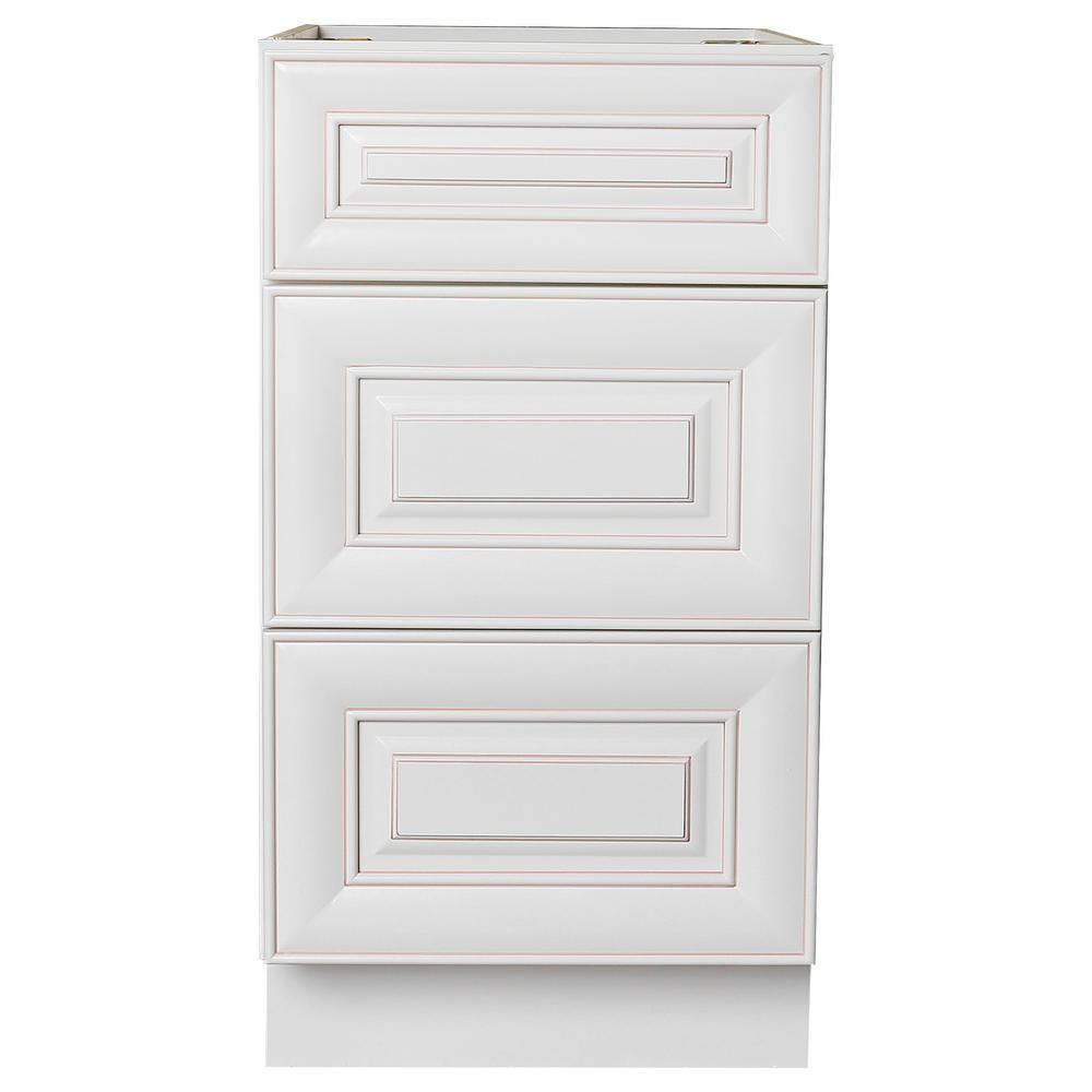 01b8a3dcb9e Ruggear Usa Plywell Ready to Assemble Holden 12 in. W x 21 in. D x 34.5 in.  H Vanity Cabinet with 3-Drawers in Antique White