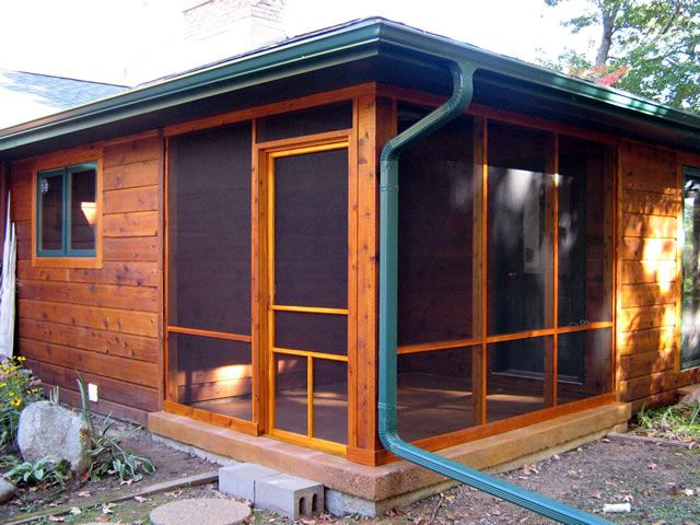 Alternatives to the traditional screened porch screened for Shed with covered porch