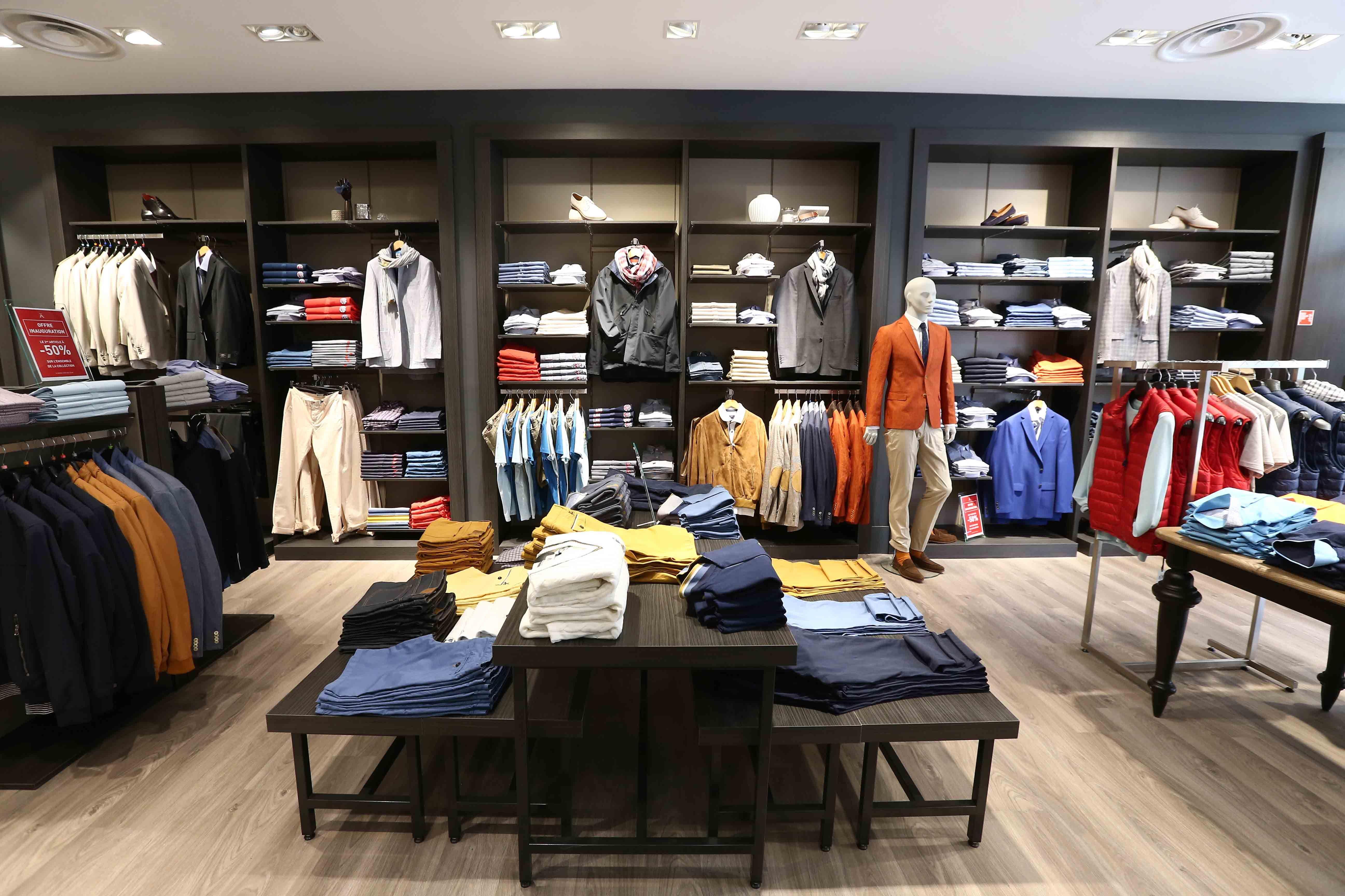 Mobilier textile homme mobilier boutique