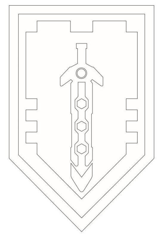 Ritterschild Malvorlage