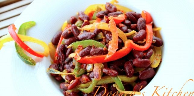 Warm Kidney beans and Sweet Peppers Salad