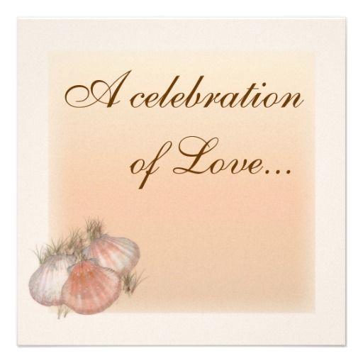 Seashells  Wedding Invitation