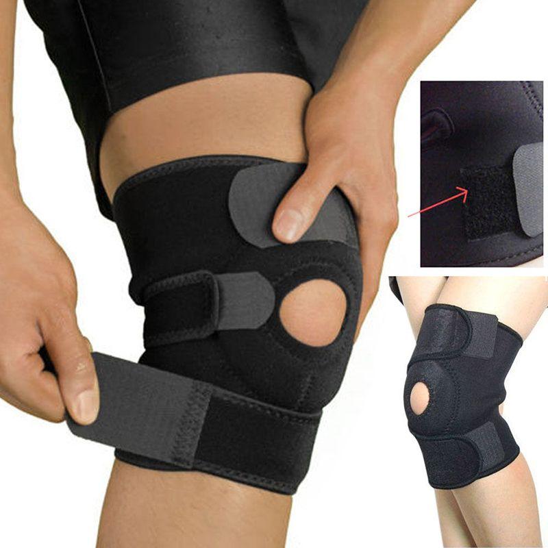 Black elastic neoprene patella brace knee belt fastener