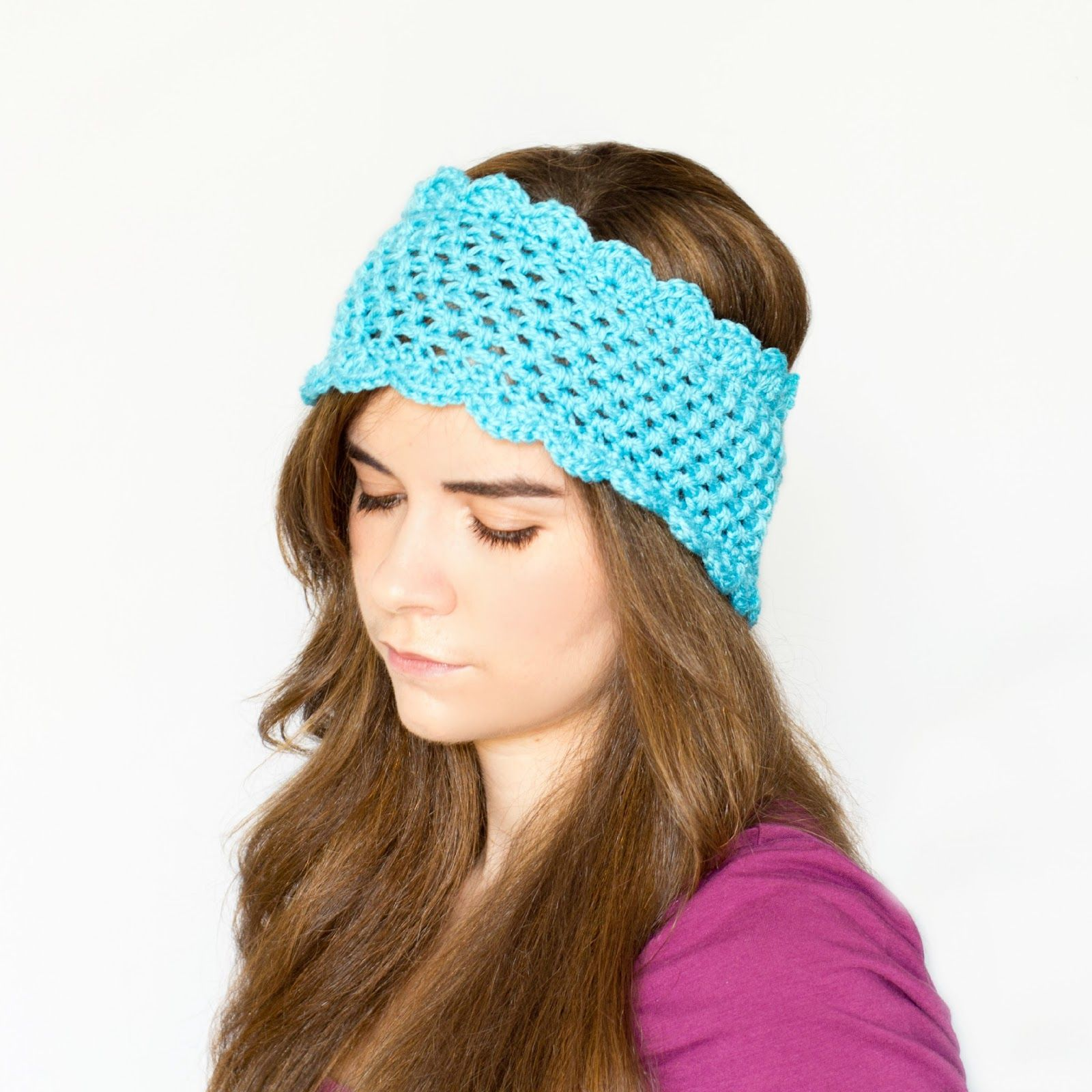 Dainty Scalloped Ear Warmer Crochet Pattern via Hopeful Honey ...