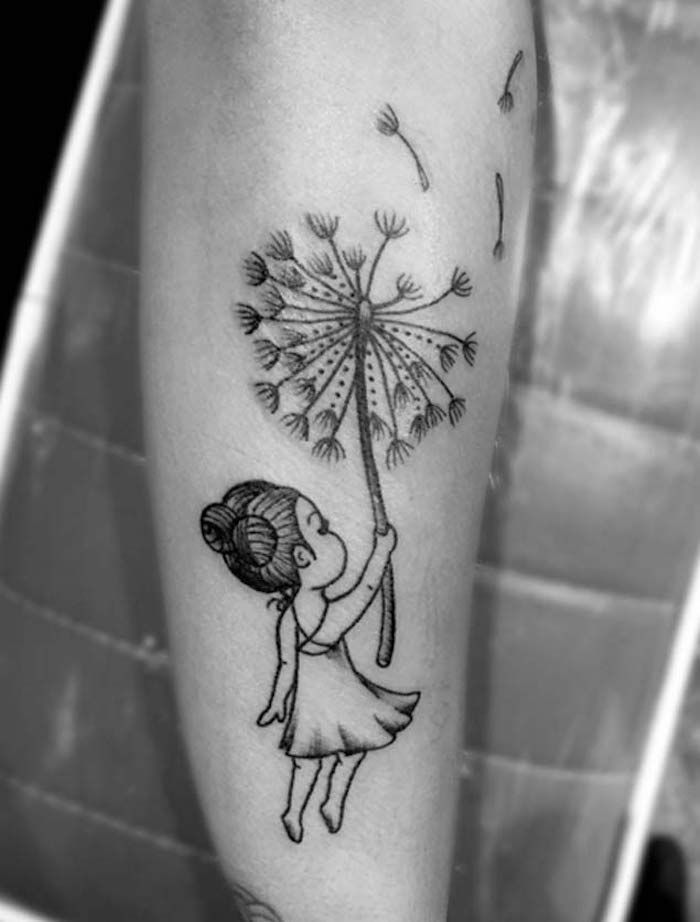 tatouage pissenlit un tattoo dans le vent tattoo. Black Bedroom Furniture Sets. Home Design Ideas