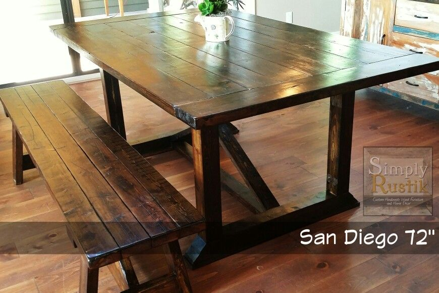 Dining Room Furniture San Diego Awesome The San Diego 72 Is A Modern Yet Rustic Farmhouse Dining Table Decorating Inspiration