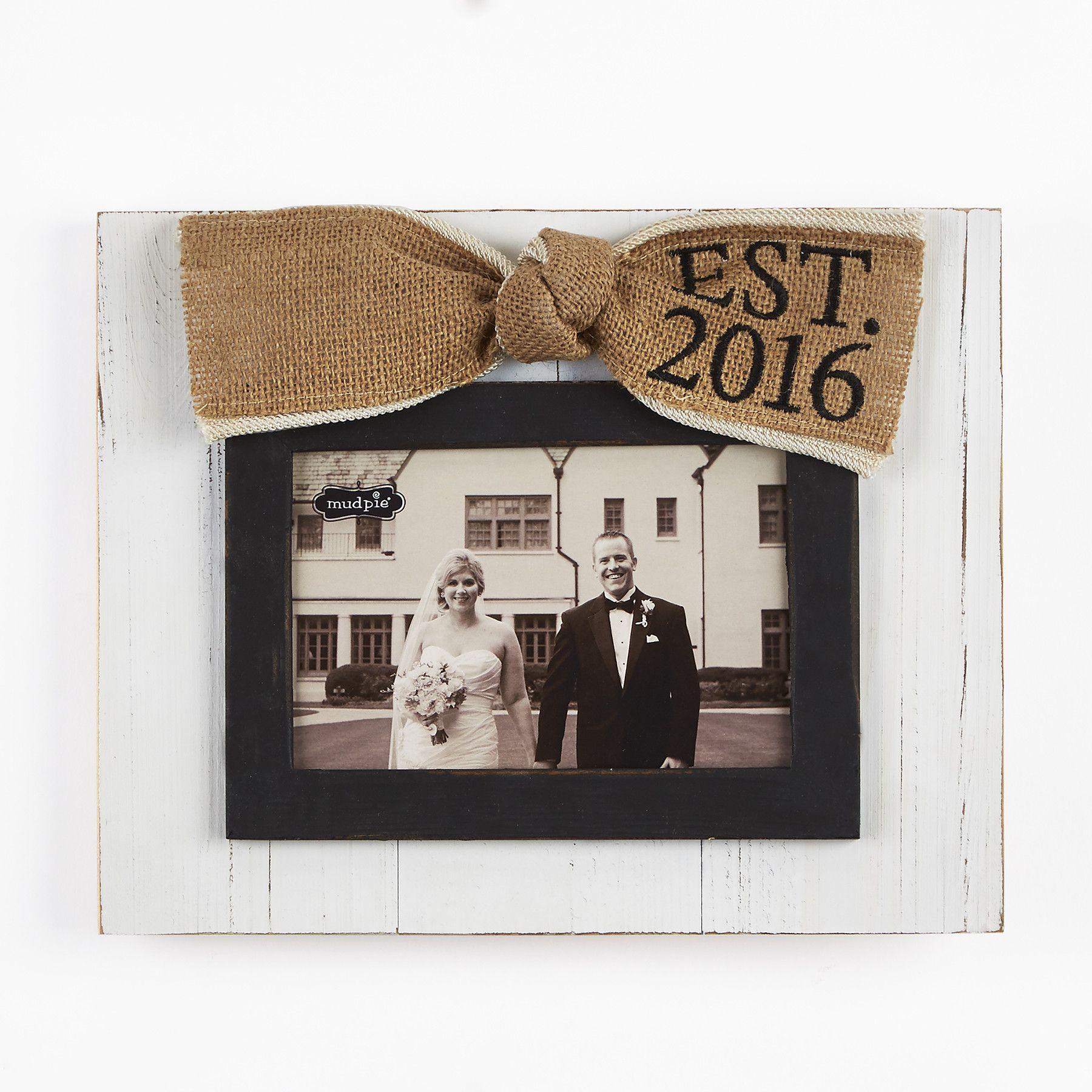 Wedding Est. 2016 Picture Frame | wedding | Pinterest