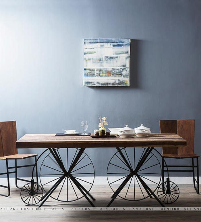 Dining Table  Art And Craft Furniture  Home Deco  Pinterest Inspiration Arts And Crafts Dining Room Set Design Inspiration