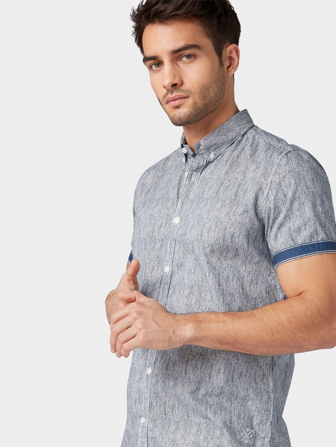 Patterned Shirt Blue For 39 99 Order Now At Tom Tailor Worldwide Largest Range Official Tom Tailor Online Shop Shirt Pattern Tom Tailor