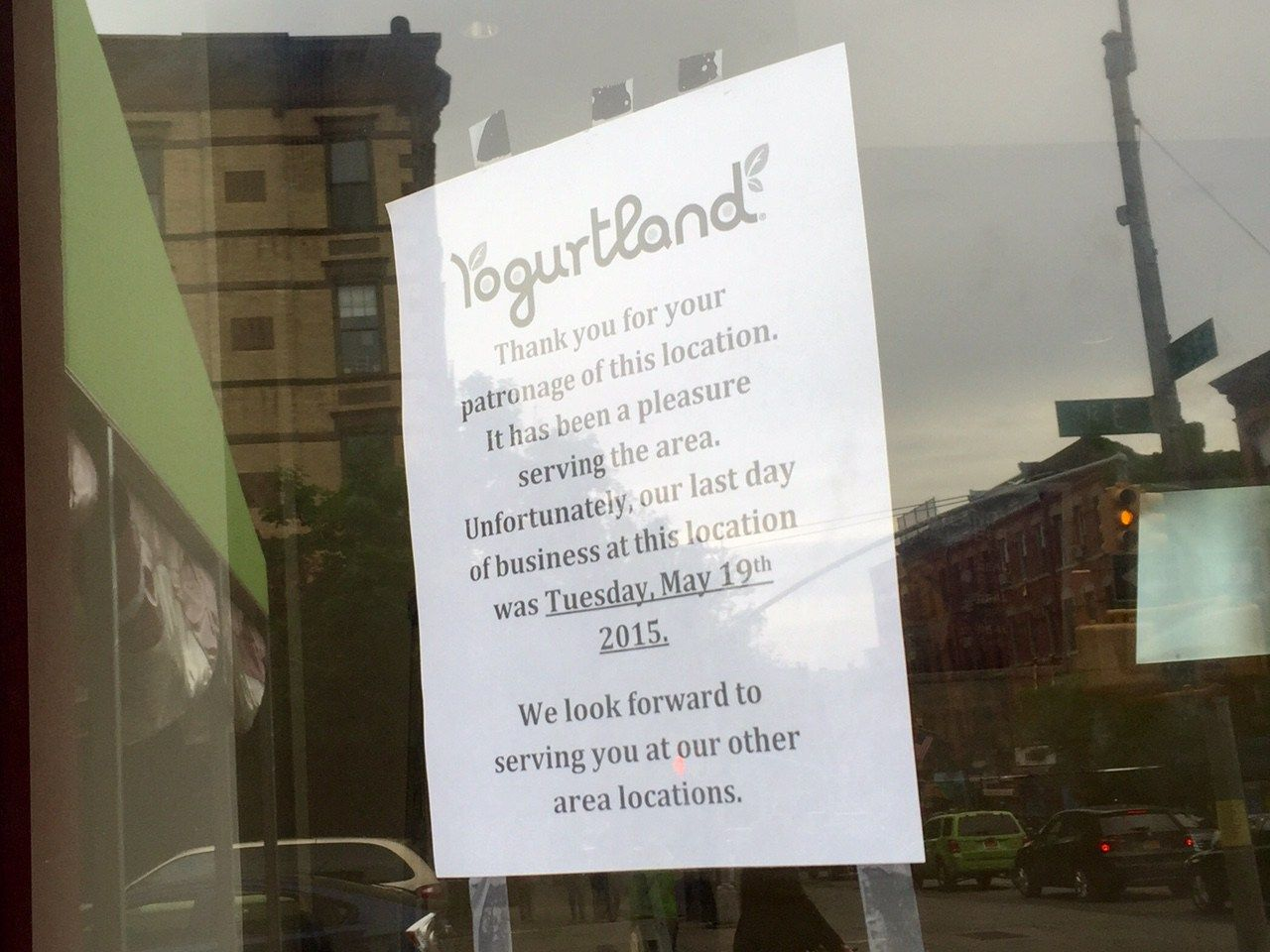 Yogurtland In Park Slope Has Closed Closer Park Froyo