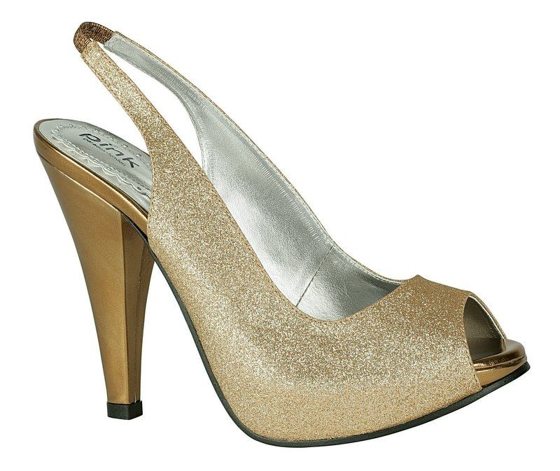 Gold Pink Carrie Bridal Shoes 70 00 This Sparkling Slingback Is Available In Silver