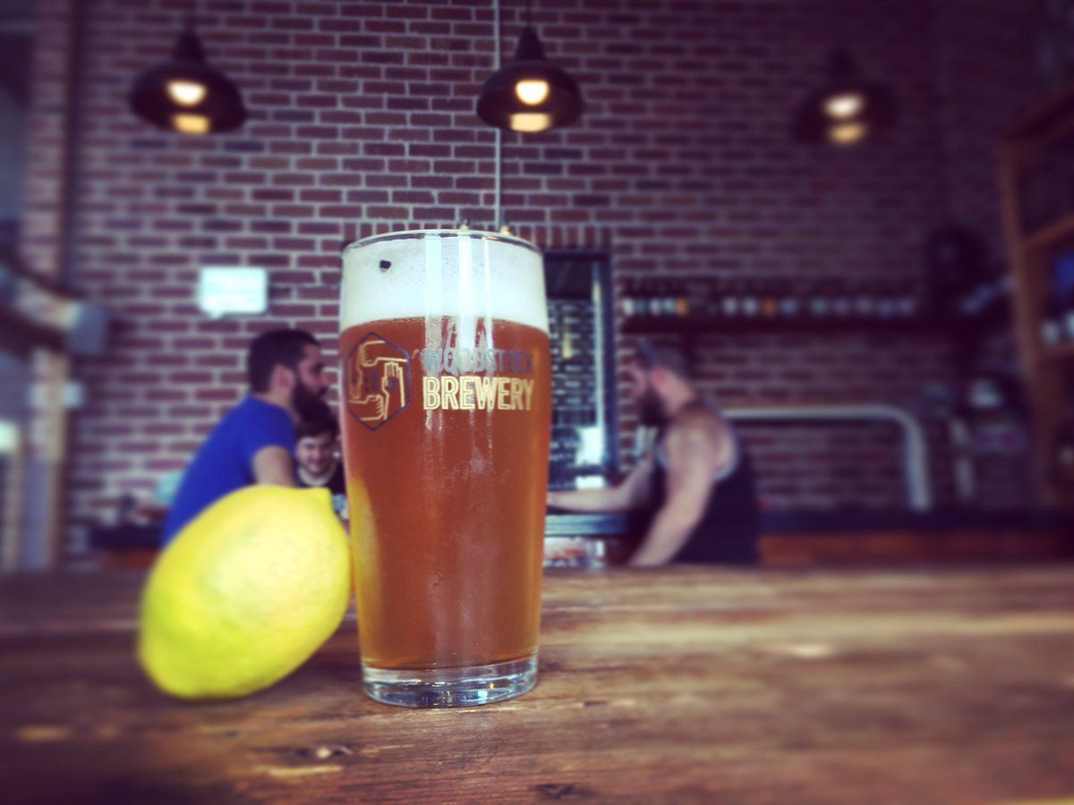 Limoncello IPA on tap at Woodstock Brewery's taproom