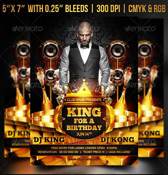 King for a birthday flyer mockup meuk pinterest free design king for a birthday flyer filmwisefo Image collections