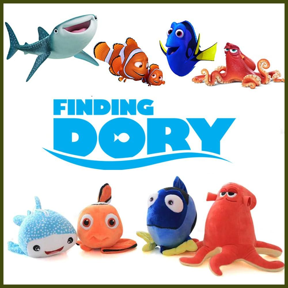 Finding dory clownfish nemo fish plush toys cartoon movie for Dory fish movie