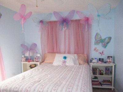 fairy bedroom ideas. fairy bedroom  this is ultra do able with wings from the dollar store Fairy Dollar Store add tulle etc to make butterflies