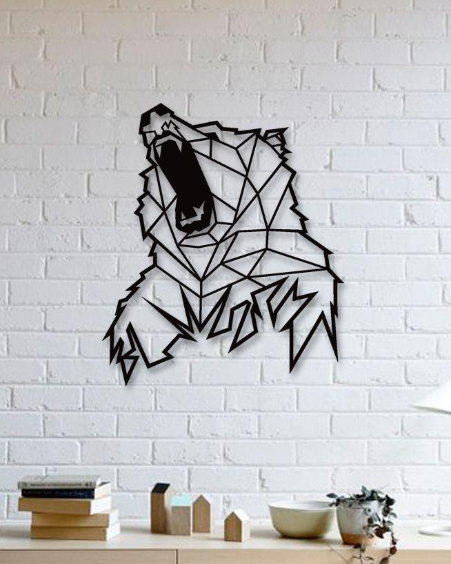 Ayı Metal Tablo - Bear