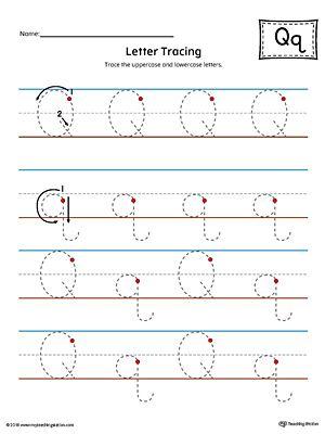 Letter Q Tracing Printable Worksheet Color Alphabet Tracing Worksheets Printable Worksheets Lettering