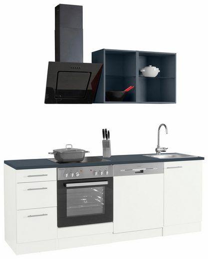 OPTIFIT Singleküche »Mini« inkl E-Geräten, Breite 210 cm Wohnung