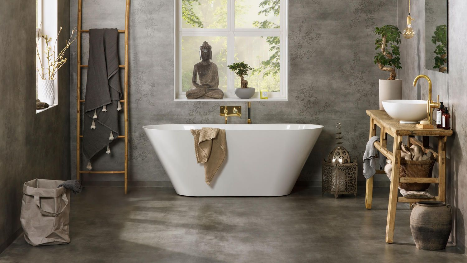 Photo of Aquarelle – floors and walls for bathrooms and wet rooms | Tarkett