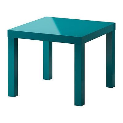 New Ikea Lack Side Table Turquoise Blue