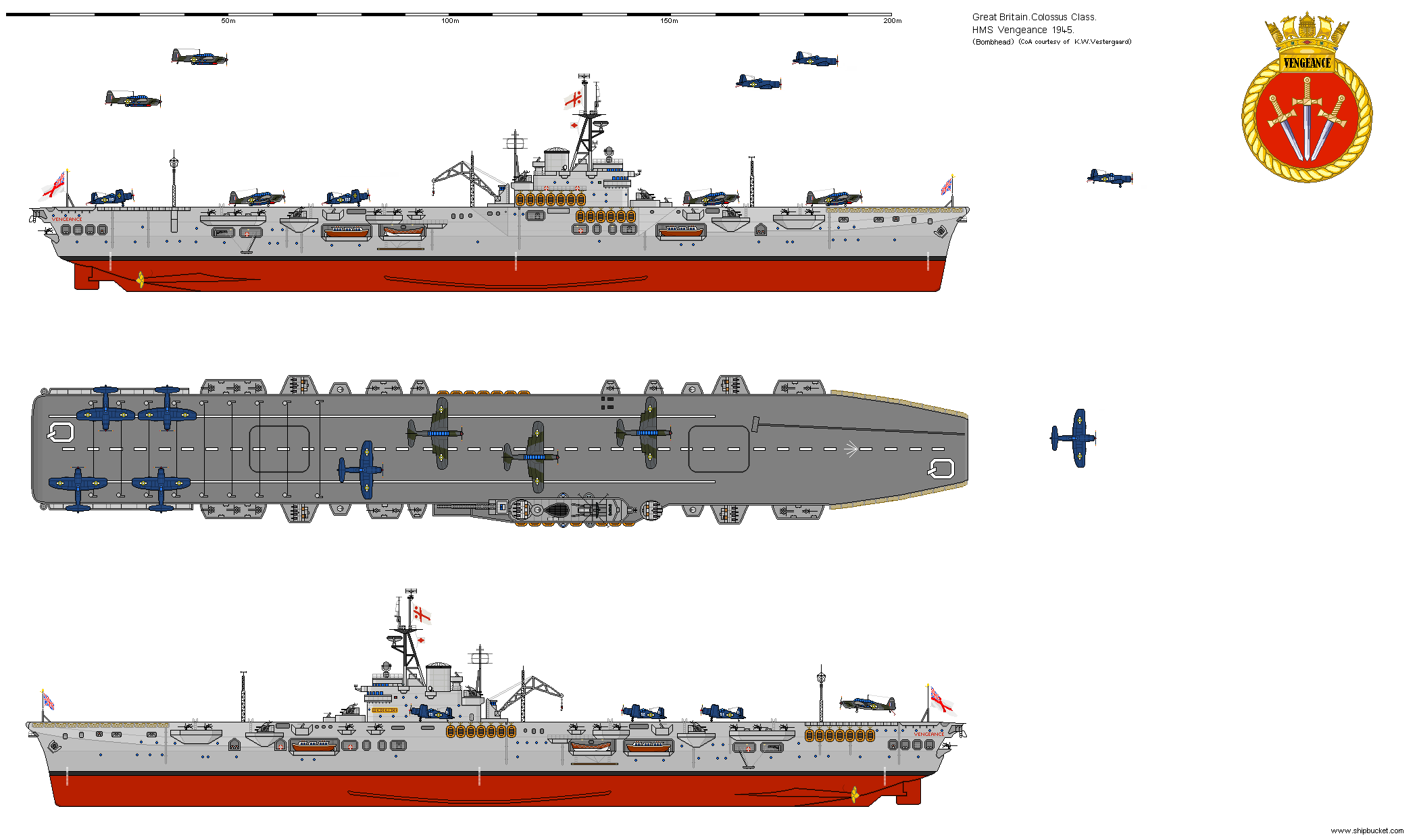 Shipbucket real designs great britain cv r71 vengeance 1945 png