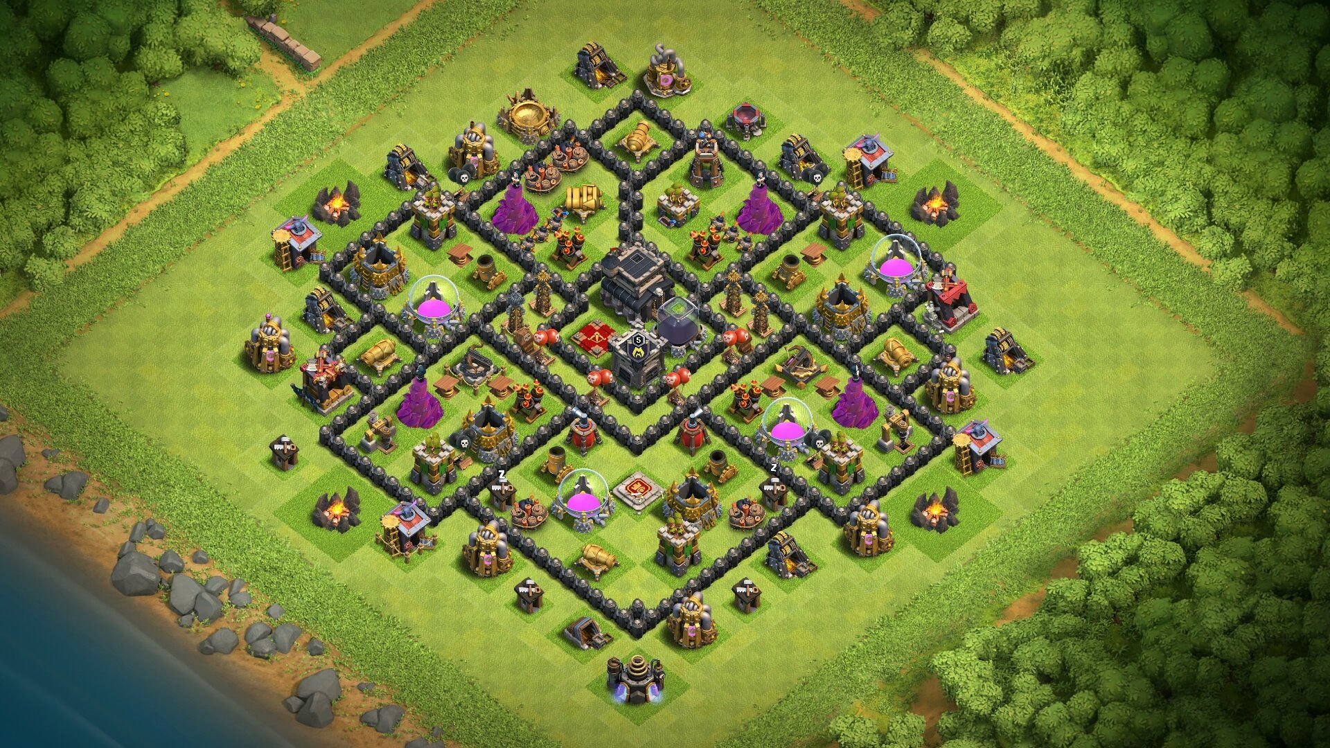 new town hall 9 trophy farming base 2018 th9 hybrid farm base with