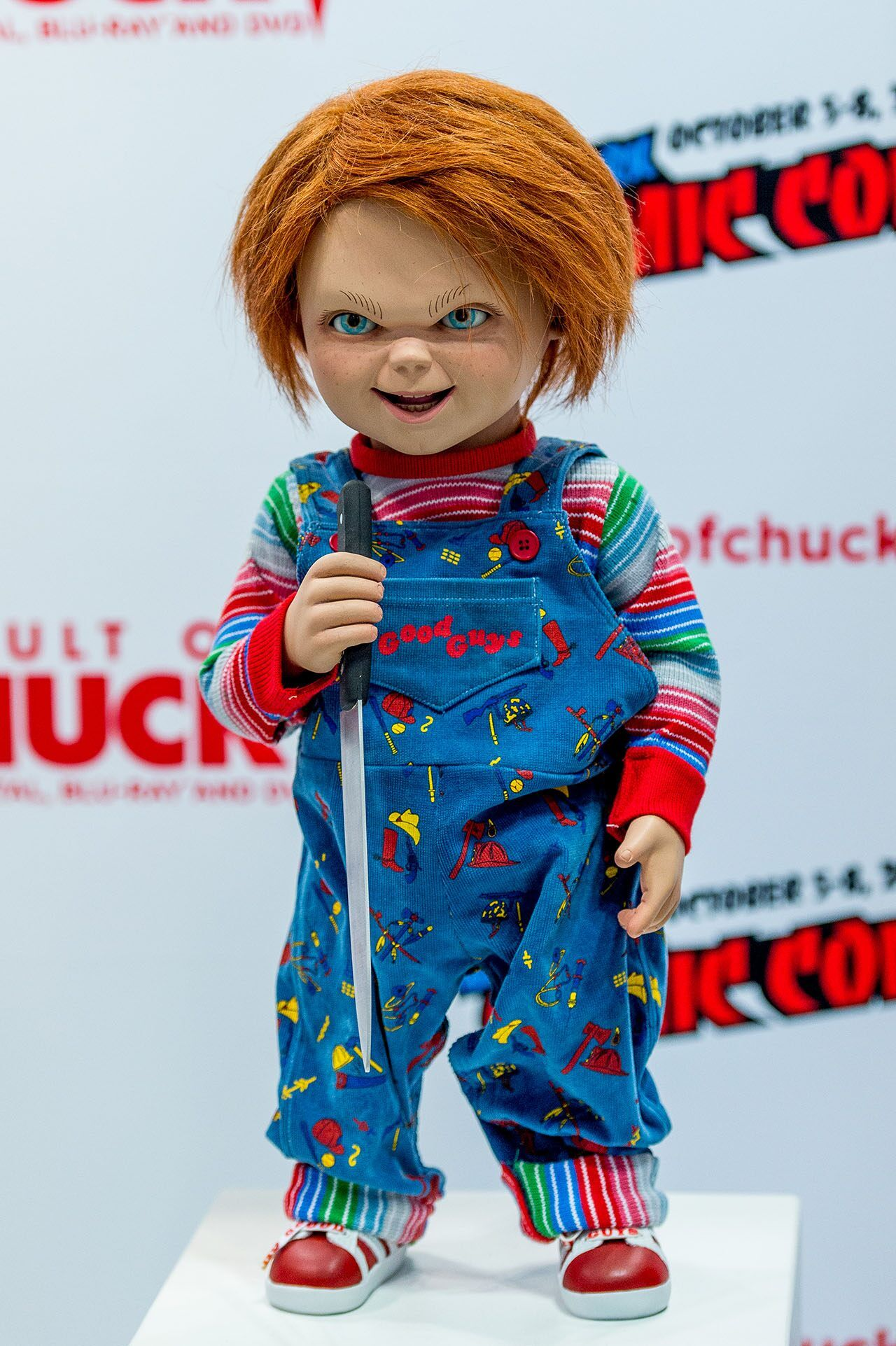 French bulldog's Chucky Halloween costume goes viral, gets