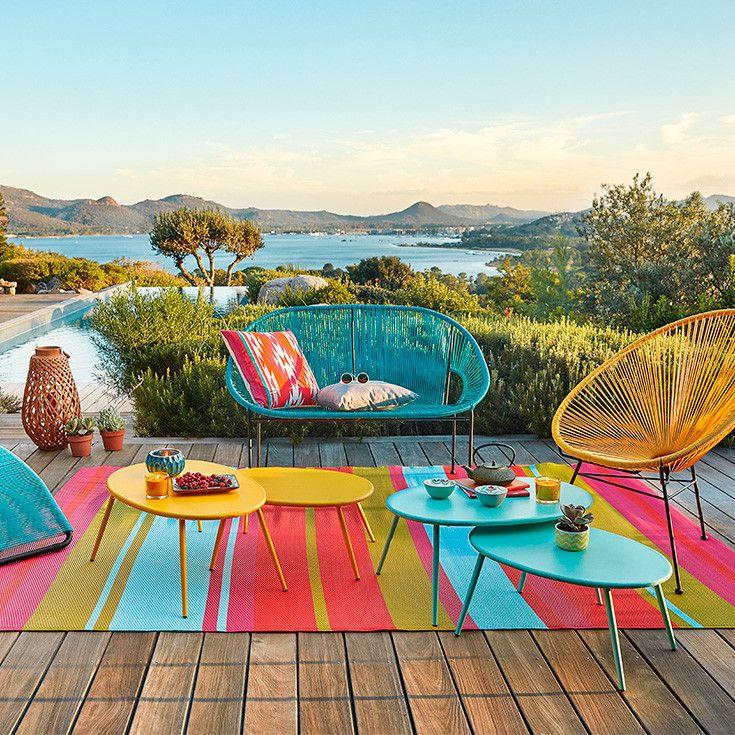 Mobel Amp Gartendeko Korsika Maisons Du Monde Terrasse Dekor Mond Garten Teppich Bunt