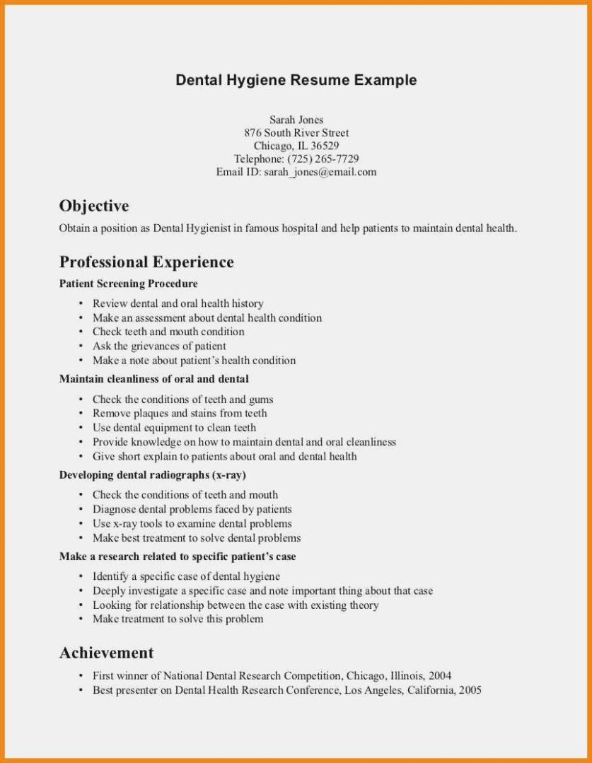 Writing Tips To Make Resume Objective With Examples Dental