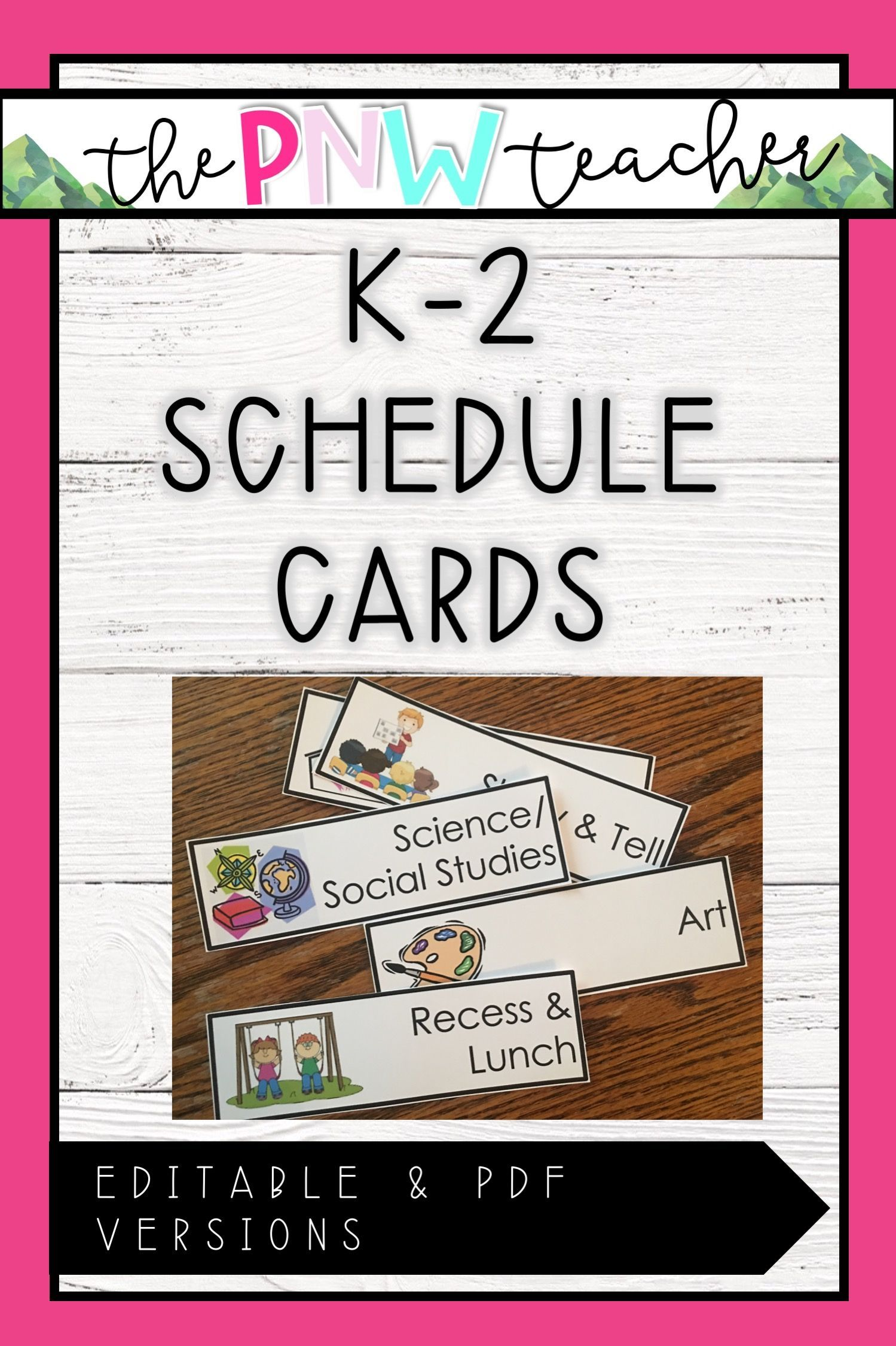 K2 schedule cards in 2020 schedule cards camping theme