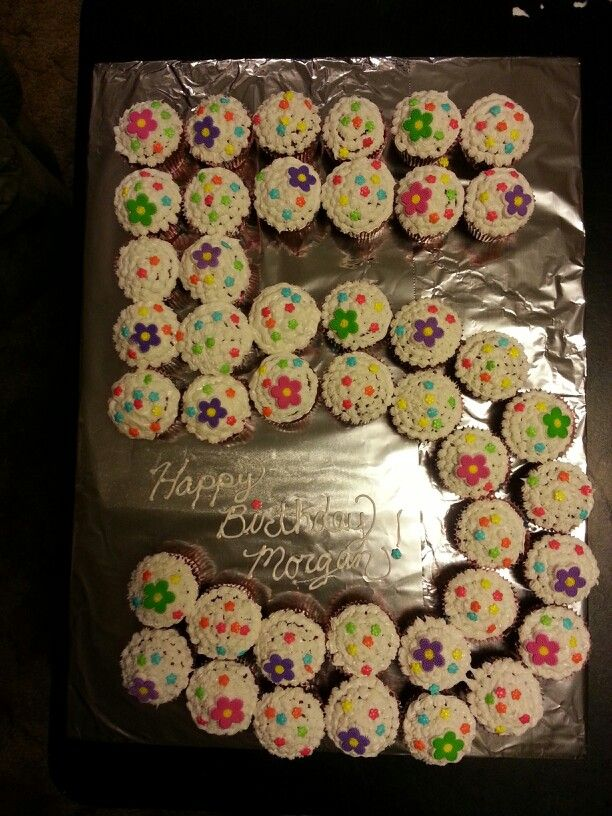 Cupcake cake 5 year old girl Recipes Pinterest Cake ...