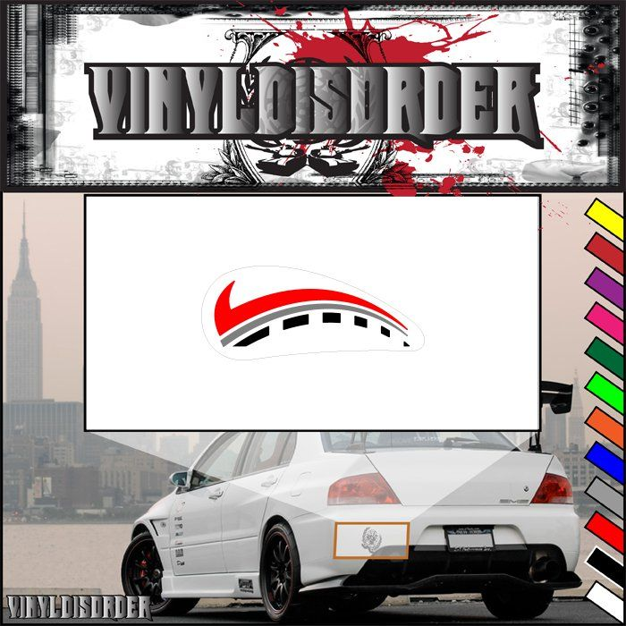 Motorcycle tank graphic decal vinyl decal car decal colorcd007