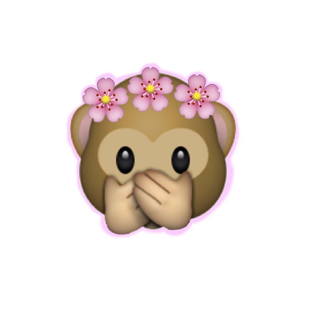 Emoji Monkey With A Flower Crown Things I Like Pinterest