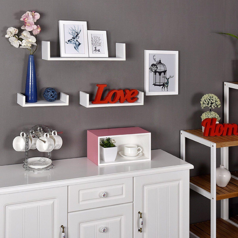 Set Of 3 U Shape Shelf