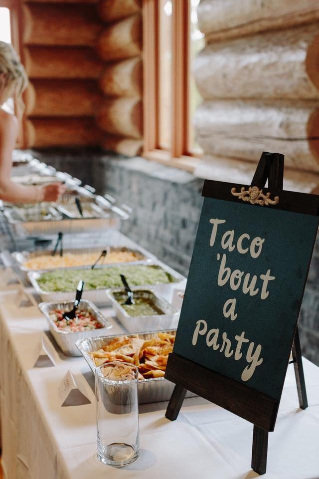 Marcie And Luke S Wedding In Mcminnville The Falls Weddings Taco Bar Wedding Taco Bar Buffet Bar Wedding Reception
