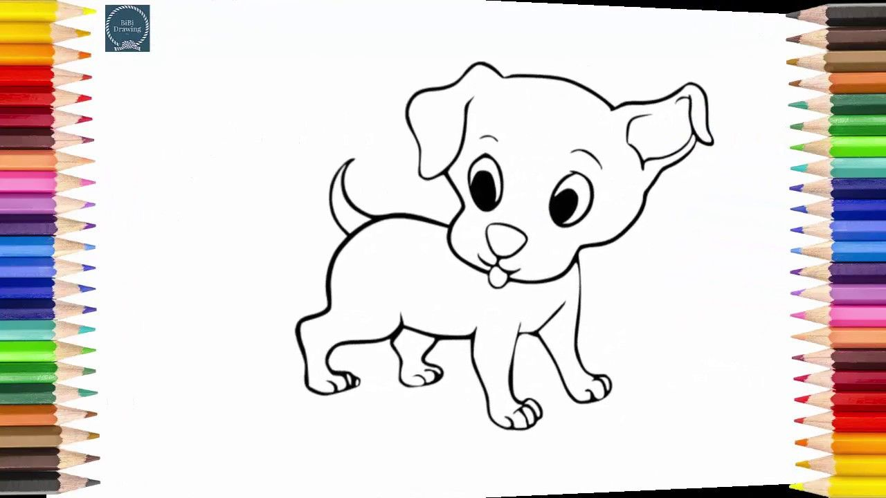 simple drawing for kids how to draw a dog step by step simple