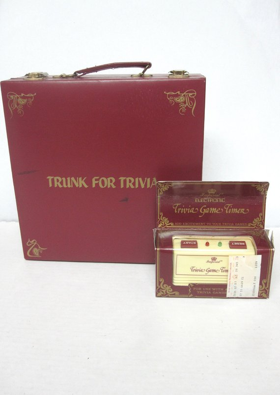 Trivial Pursuit Game Trunk For Trivia Timer Genus Game Pieces