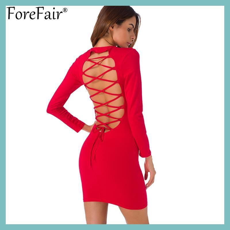 Short long sleeve dresses backless shirts