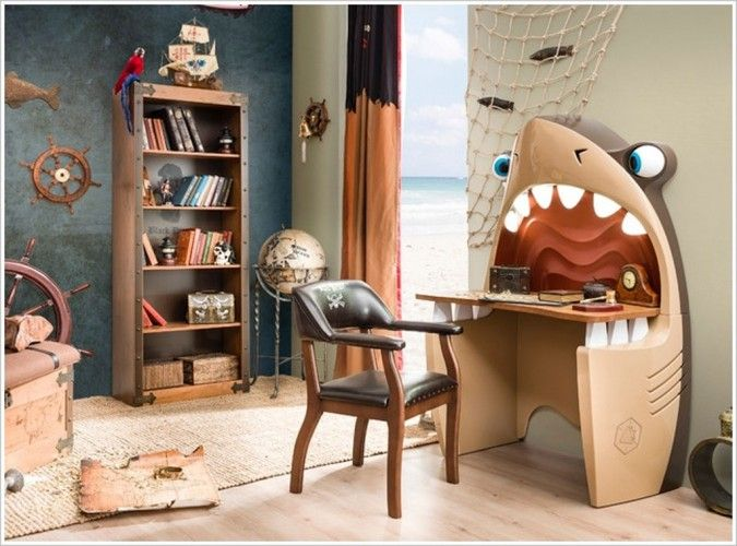 Стол в форме головы акулы Lego Pinterest Chambres