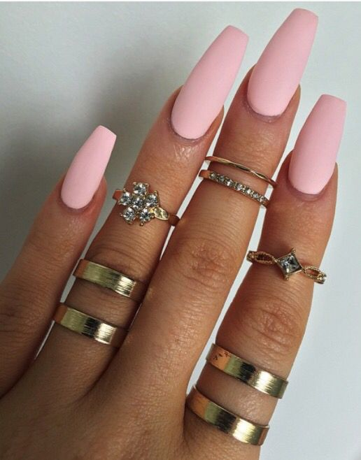 Pinterest: ilonvxa ✧ | Nails | Pinterest | Pink nails, Coffin nails ...