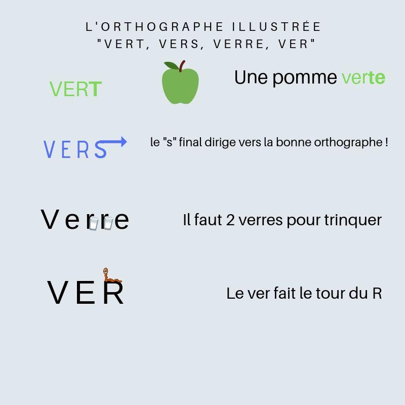 Épinglé sur Orthographe illustrée