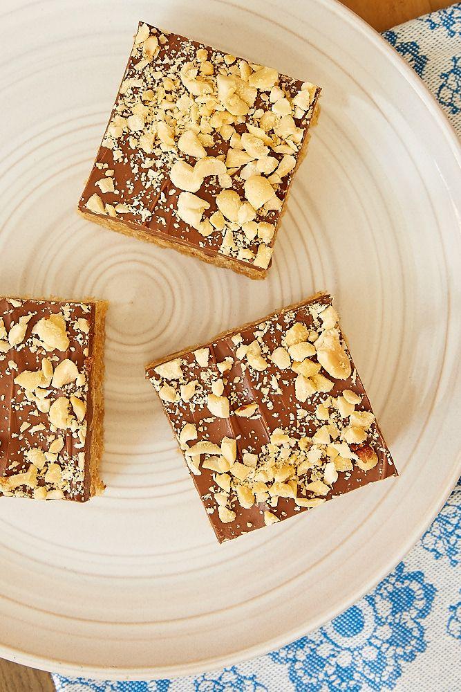 Chocolate Peanut Butter Crispy Treats #crispytreats