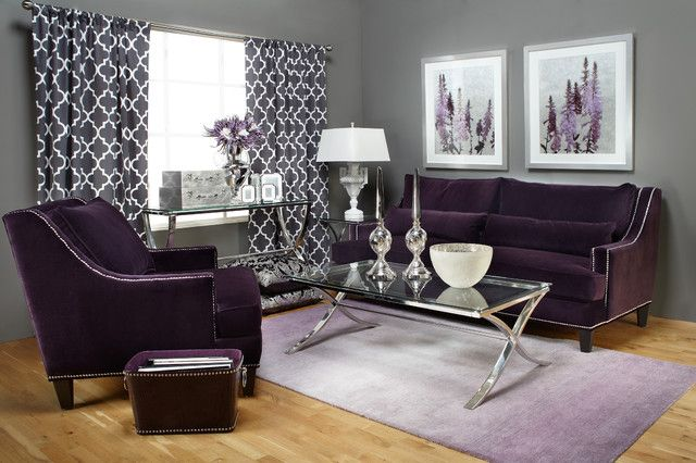 15 Catchy Living Room Designs With Purple Accent | Home Design Lover. Lila  Wohnzimmer ...