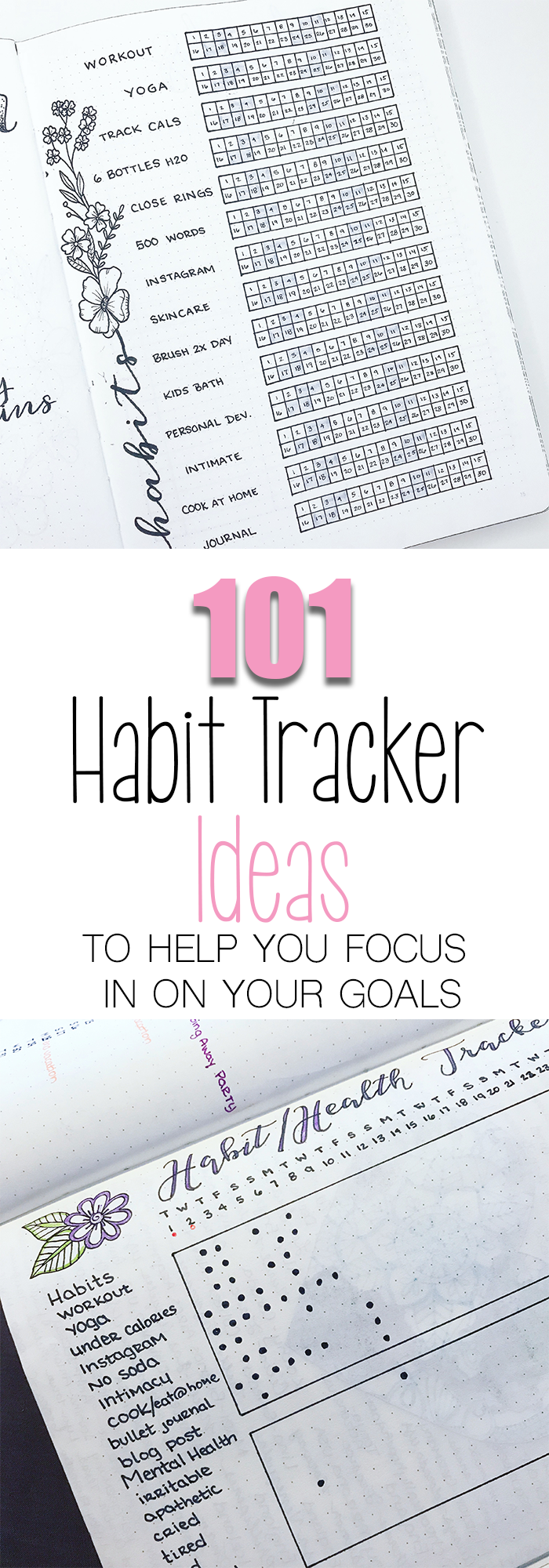 101 Habit Tracker Ideas for Your Bullet Journal I have made it easy to find habits relevant to your life and goals by categorizing each list of habits