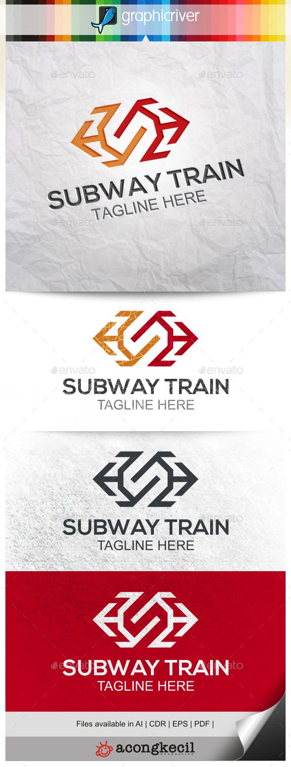 Subway Train Logo Template Suitable for Company Logo