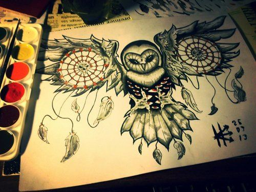 Group of: Owl dreamcatcher feathers beautiful i | We Heart It