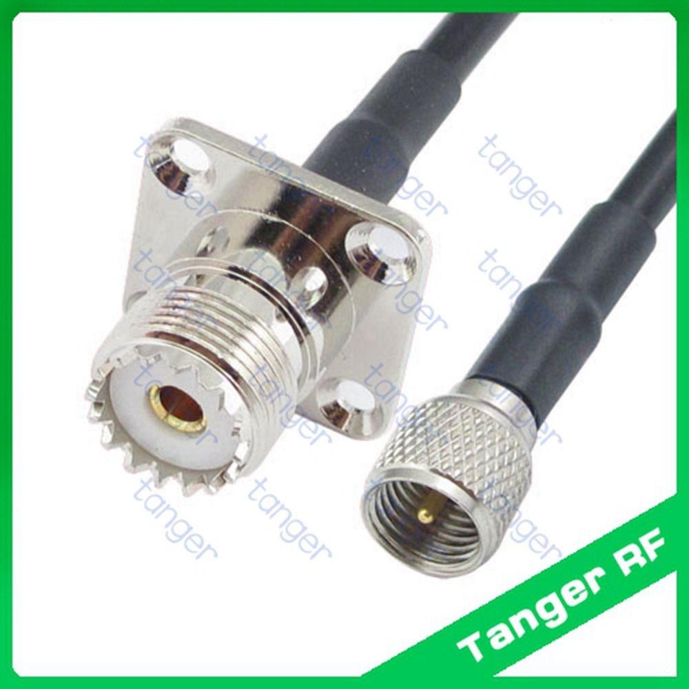1 UHF Female SO239 Jack to Mini UHF Male PL259 Plug Straight RF Adapter Connecto