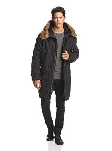 Alpha Industries Men's Slim Fit N-3B Parka (Black) | Alpha ...