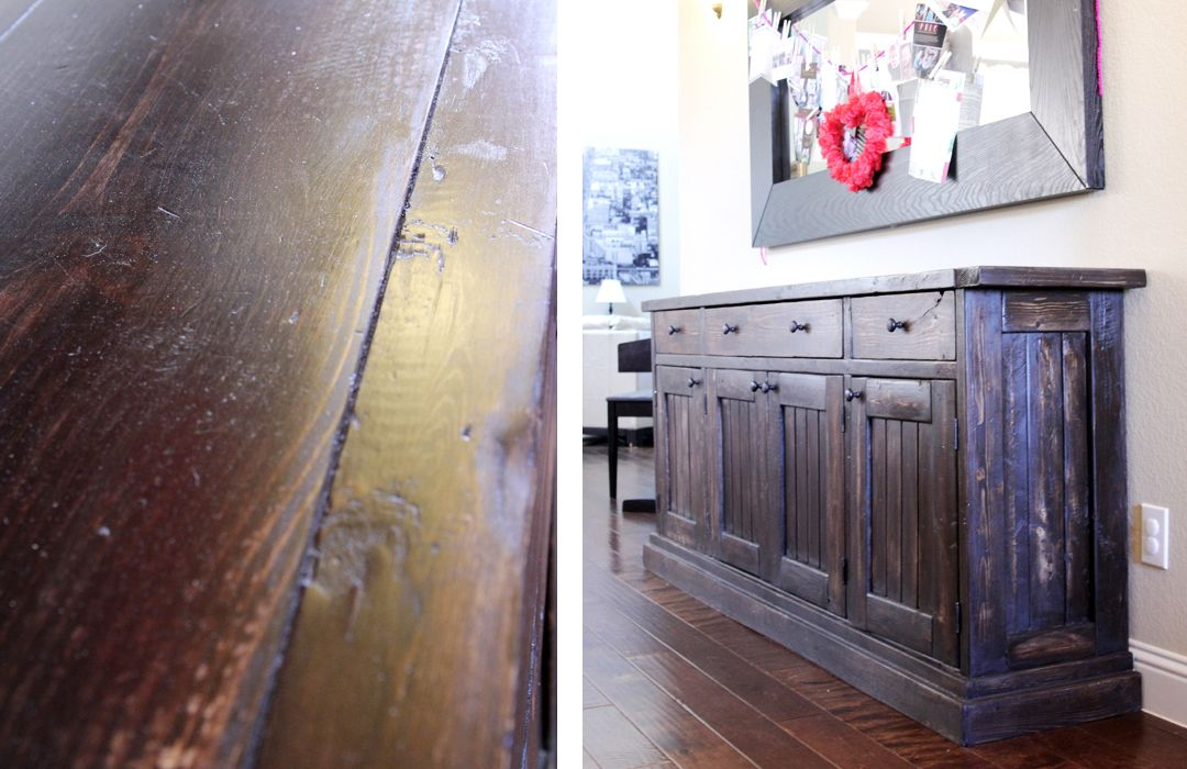 Rustic Sideboard / Buffet Table   Do It Yourself Home ...