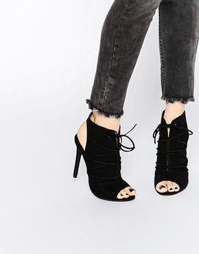 Zapatos negros con cordones Boohoo para mujer GUt0Y6